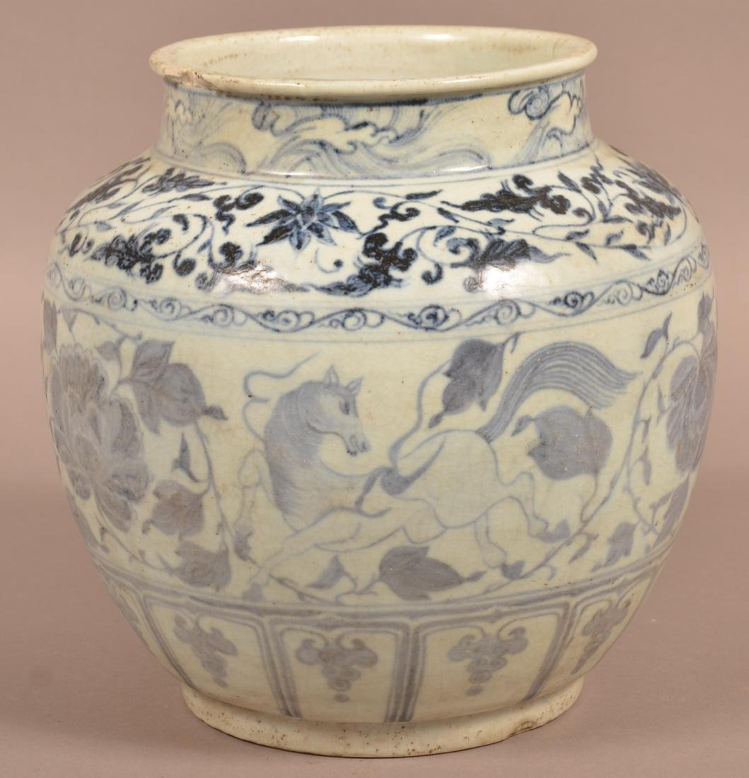 Large Chinese Ming Dynasty Blue and White Porcelain - 3