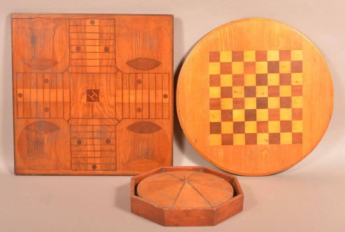 Three Pieces of Antique/Vintage Marquetry.
