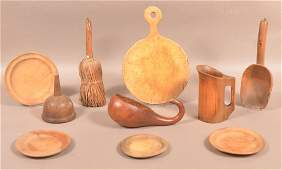 Lot of Antique Utilitarian Woodenwares