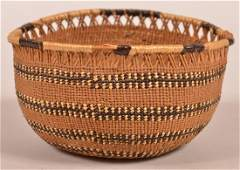 Antique Northern California Indian Trinket Basket.