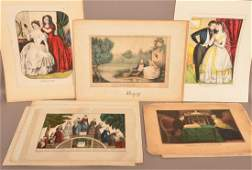 11 Medium Currier  Ives  Kelloggs Color Lithographs