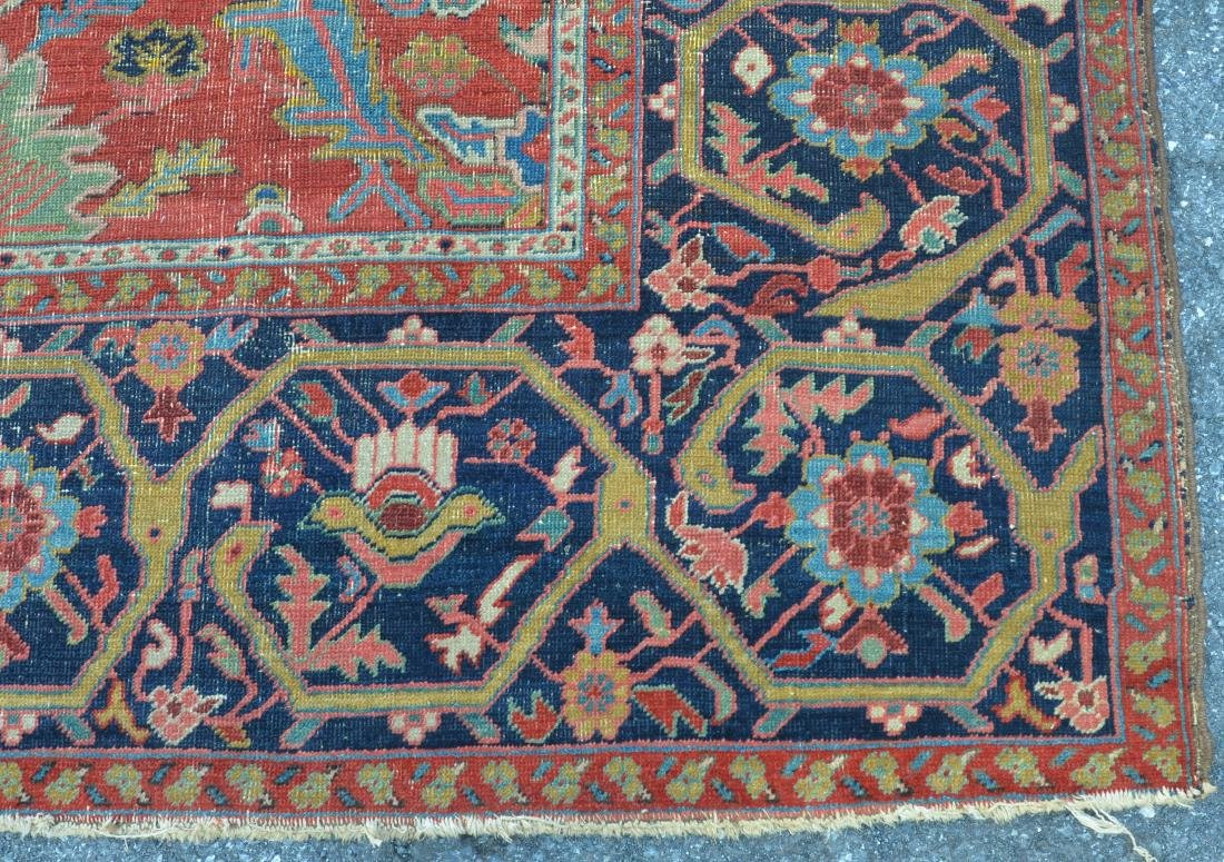 Antique Persian Sultanabad Pattern Room Size Rug. - 4