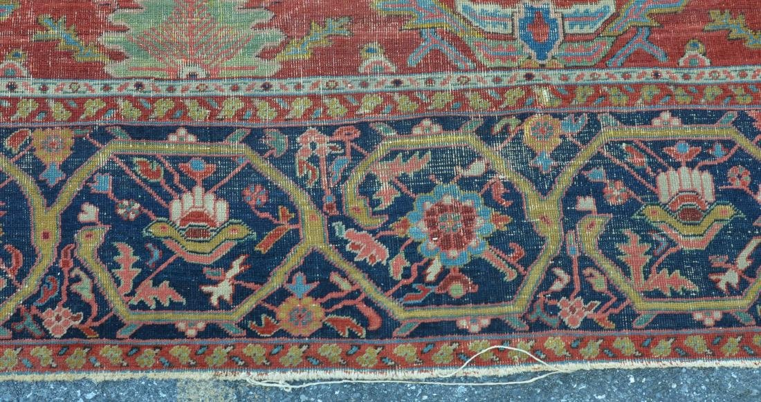 Antique Persian Sultanabad Pattern Room Size Rug. - 5