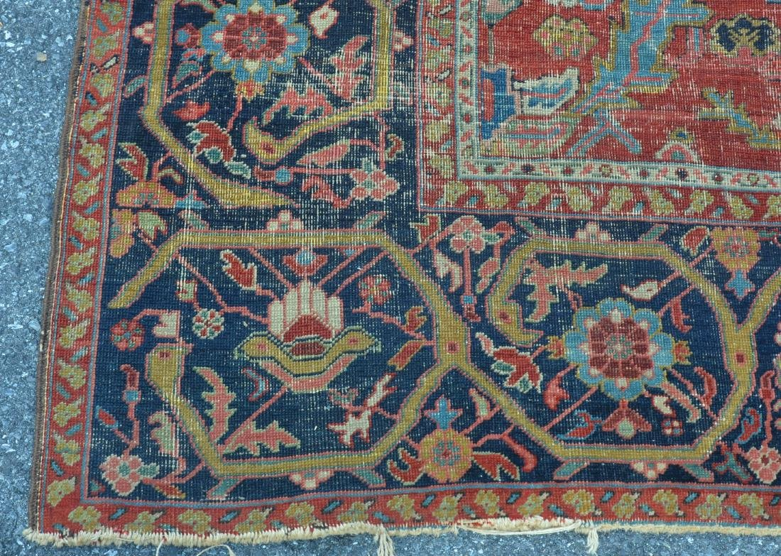 Antique Persian Sultanabad Pattern Room Size Rug. - 6