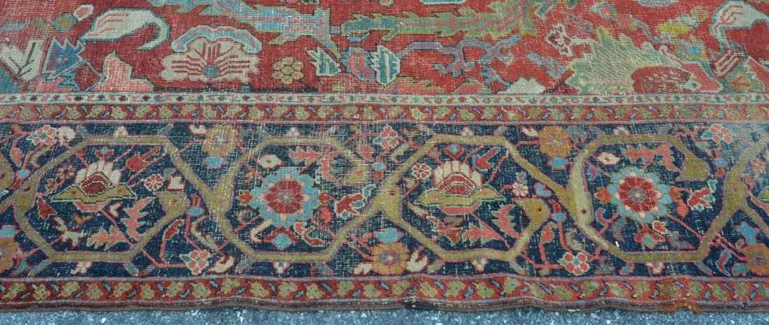 Antique Persian Sultanabad Pattern Room Size Rug. - 7