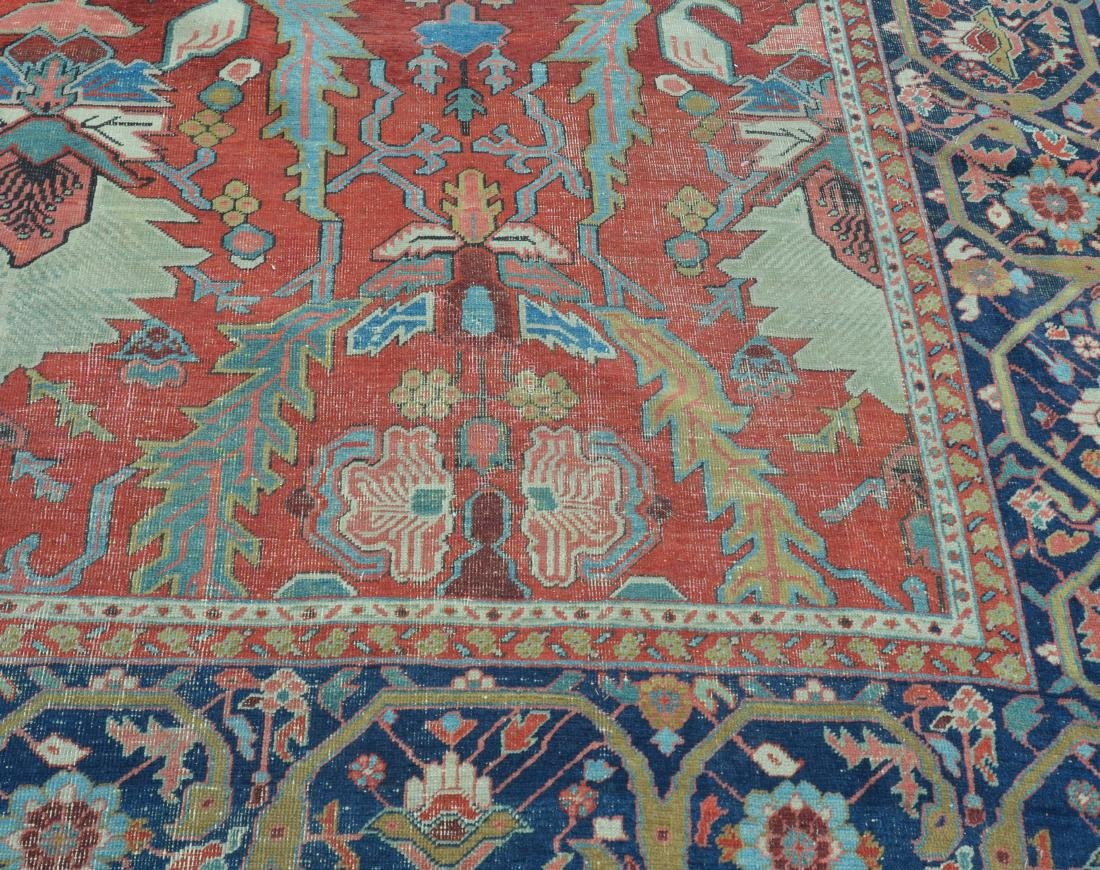 Antique Persian Sultanabad Pattern Room Size Rug. - 8