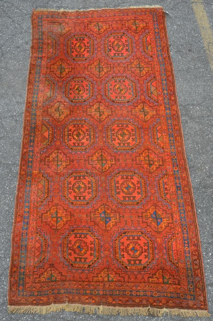 Antique Bokhara Pattern Oriental Rug.