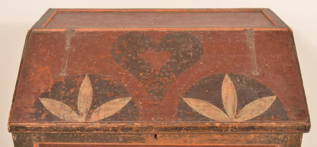 Johannes Spitler Paint decorated Pine Slant-lid Desk. - 5