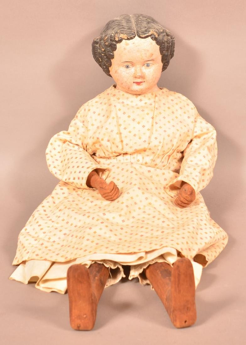 Antique Composition Head Jenny Lind Doll.