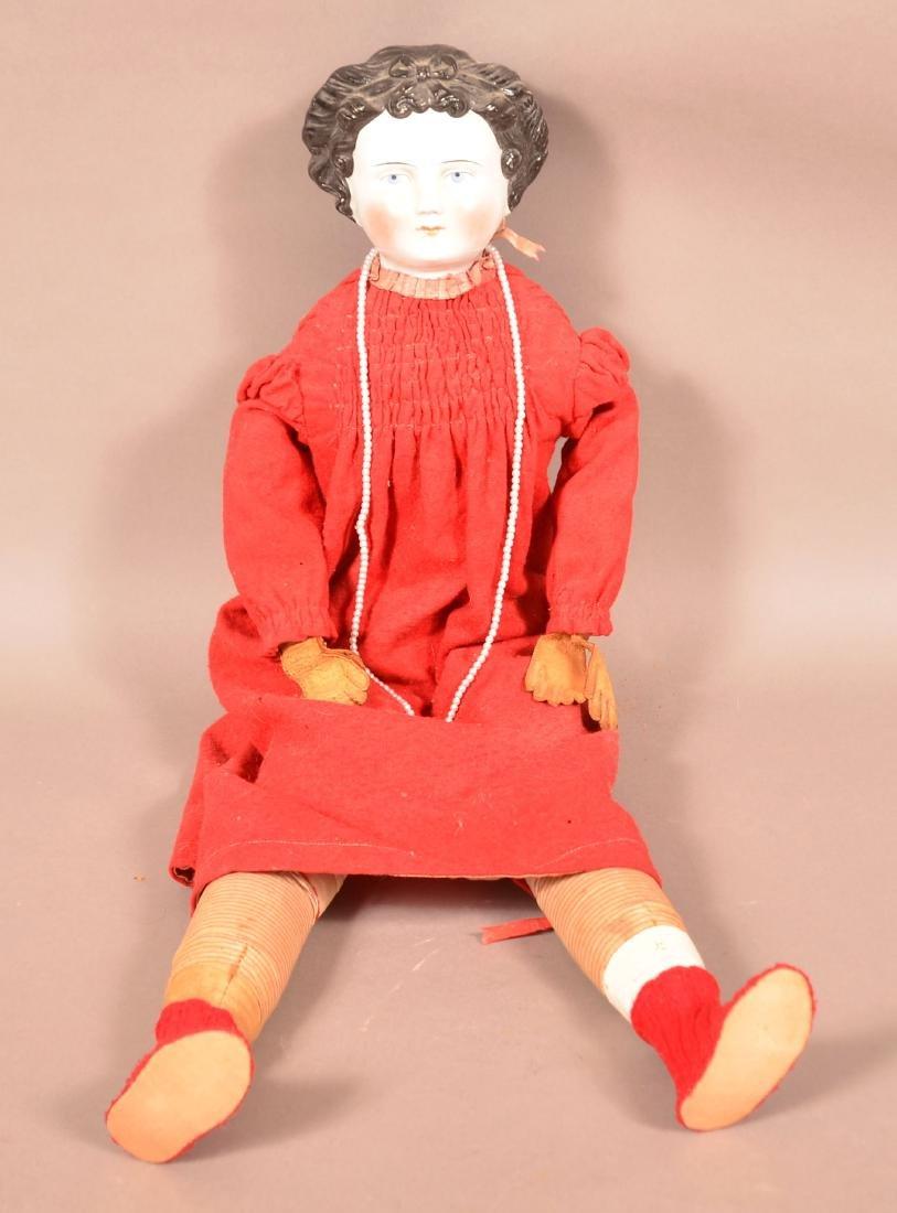 Antique China Head Jenny Lind Doll.