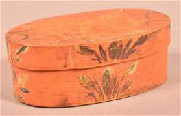 Berks County PA Oval Bentwood Band Box