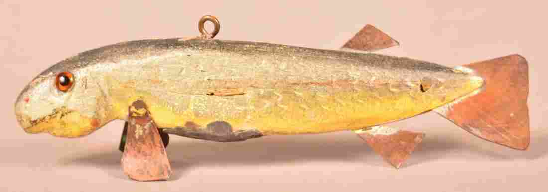 Carved & Painted Silver Redhorse Fish Decoy.