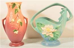 Two Pieces of Roseville Art Pottery.