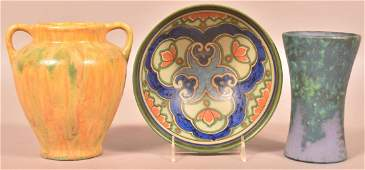 Three Various Pieces of Vintage Pottery.