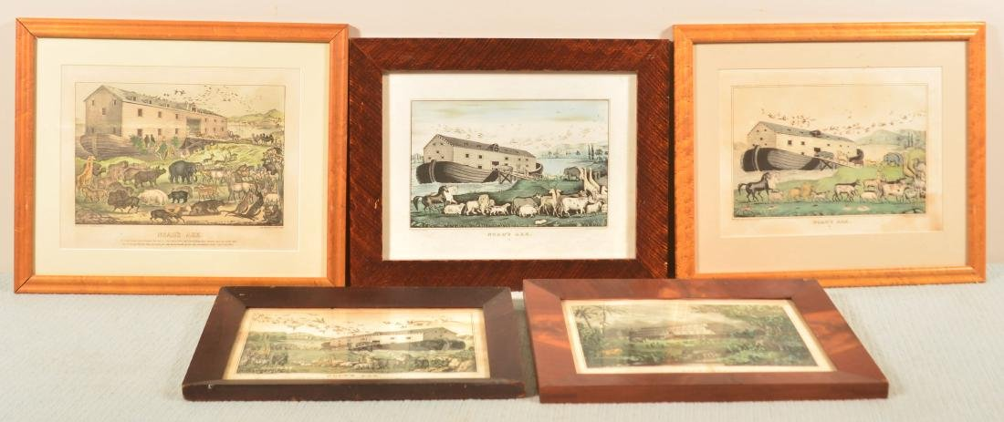 Five 19th Cent. Noah's Ark Colored Lithographs.