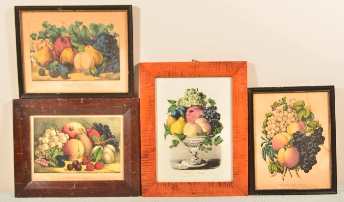Four Various 19th Century Colored Lithographs.