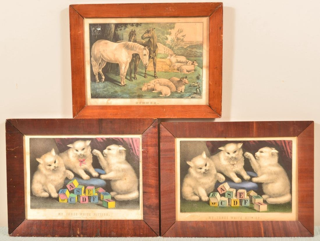 Three Various 19th Century Colored Lithographs.