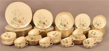 95 Pieces of Lenox West Wind Porcelain Dinner Set.