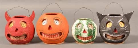 Four Contemporary Halloween JackOLanterns