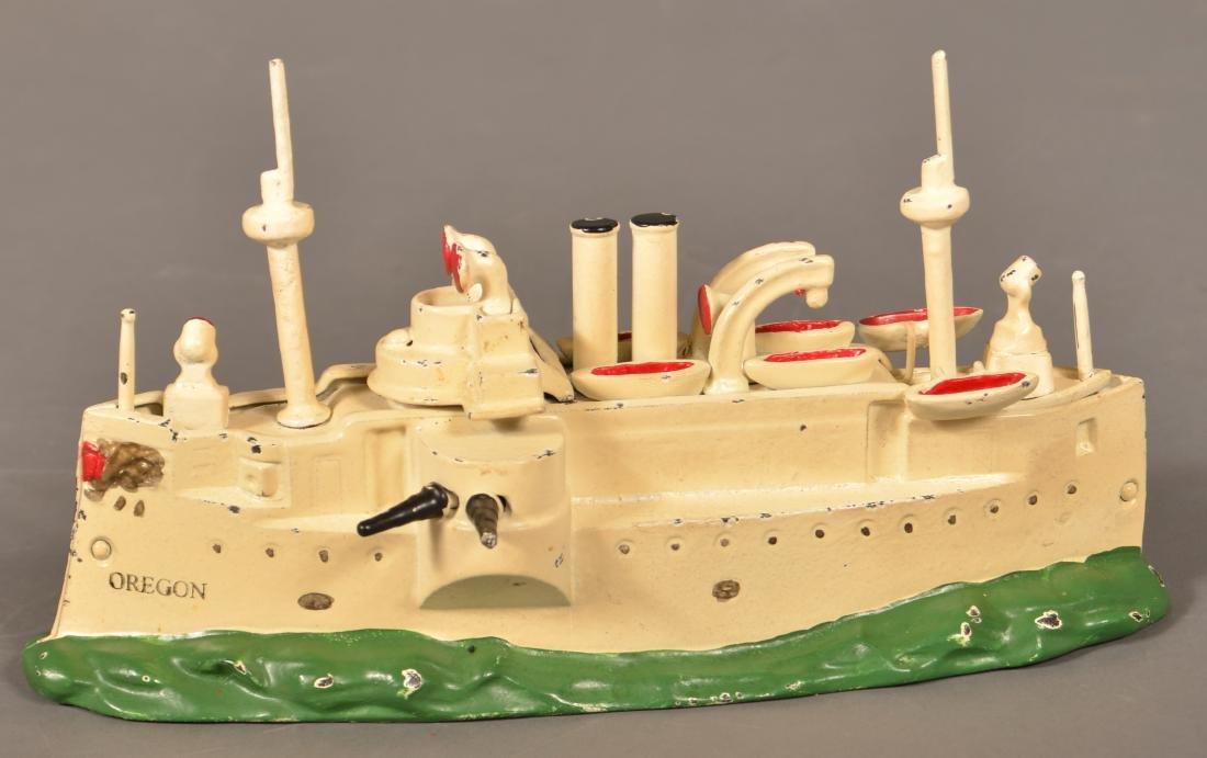 Battleship Oregon Cast Iron Still Bank.