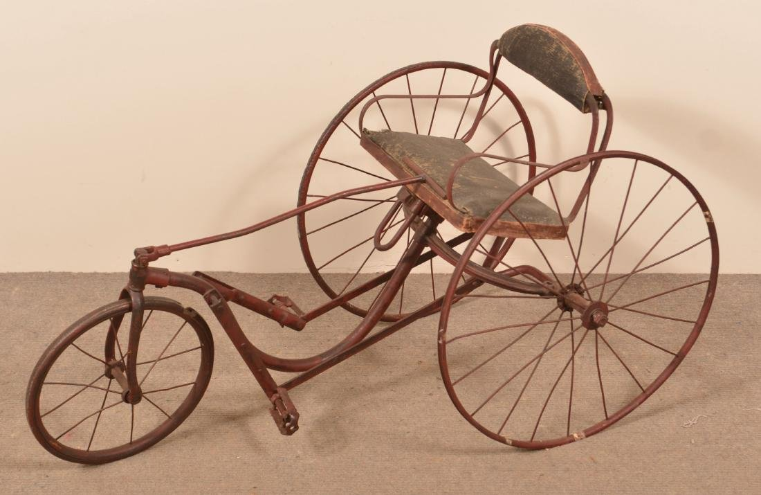 Antique Childs Velocipede Metal Frame Tricycle Jan 12