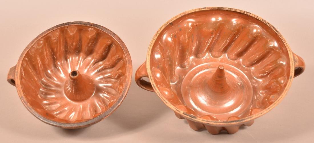 Two 19th Century Glazed Earthenware Turks Molds.
