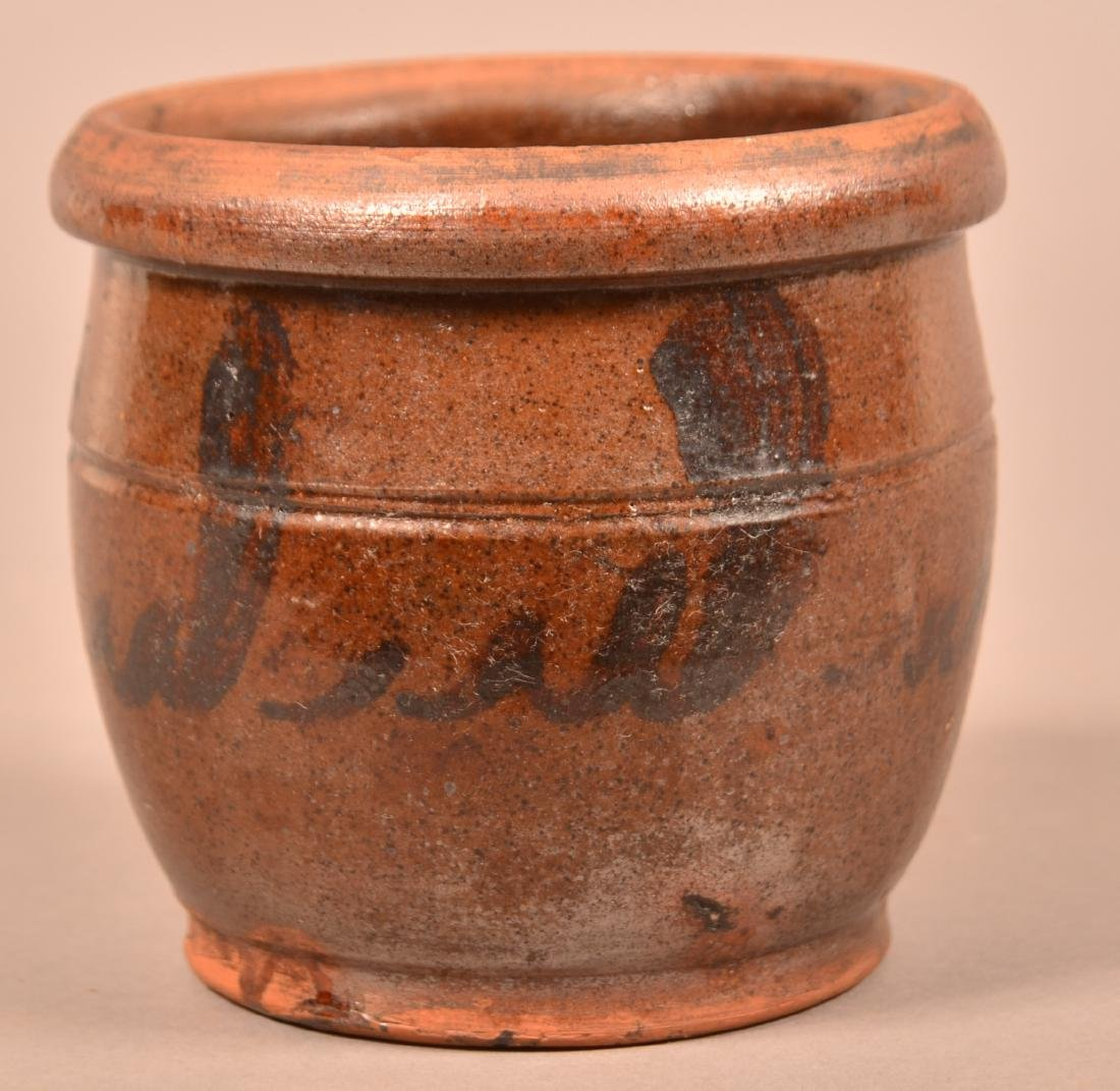19th Century Shenandoah Pottery Redware Storage Jar.