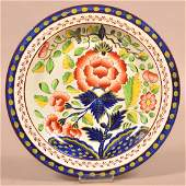 Gaudy Dutch Soft Paste China Carnation Pattern Plate.