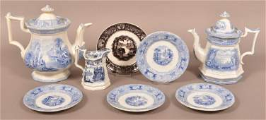Eight Pieces of Decorated Ironstone China.