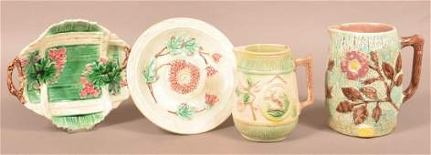 Four Pieces of Majolica Pottery.
