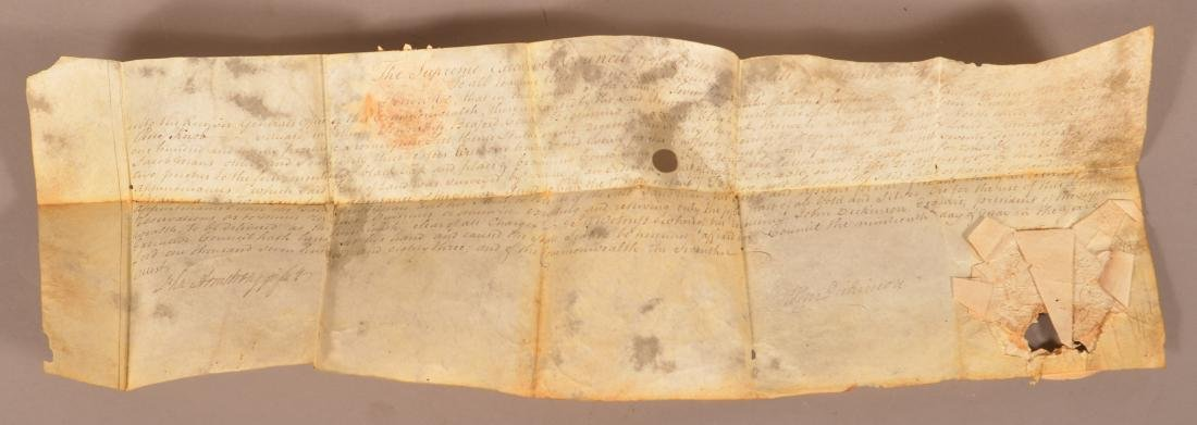 Patent Document Dated 1783 and Signed John Dickinson