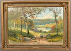 Oil on Canvas Painting Signed C.H. Shearer, 1921.