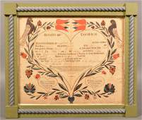 PA 1807 Printed and Colored Birth Certificate