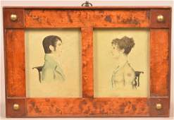 Early 19th Century Double Watercolor Portrait