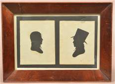Double Silhouettes Signed Peales Museum.