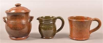 Three Pieces of Stahl Glazed Redware.