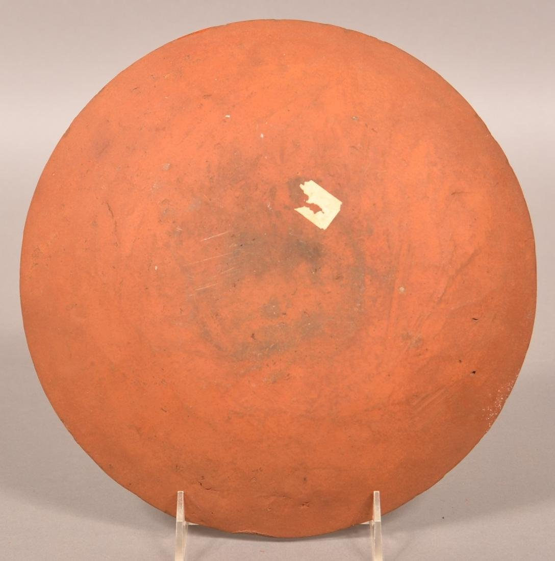 19th Century Redware Slip Decorated Plate. - 2