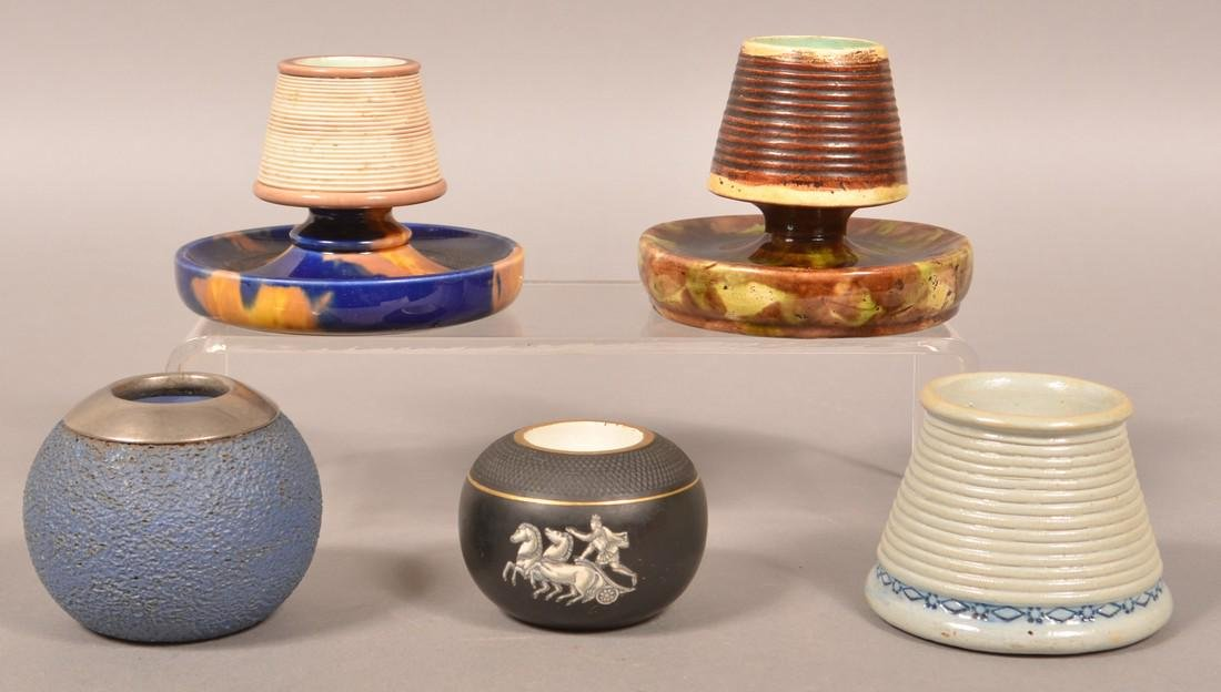 Five Various Pottery/Ceramic Match Safes.