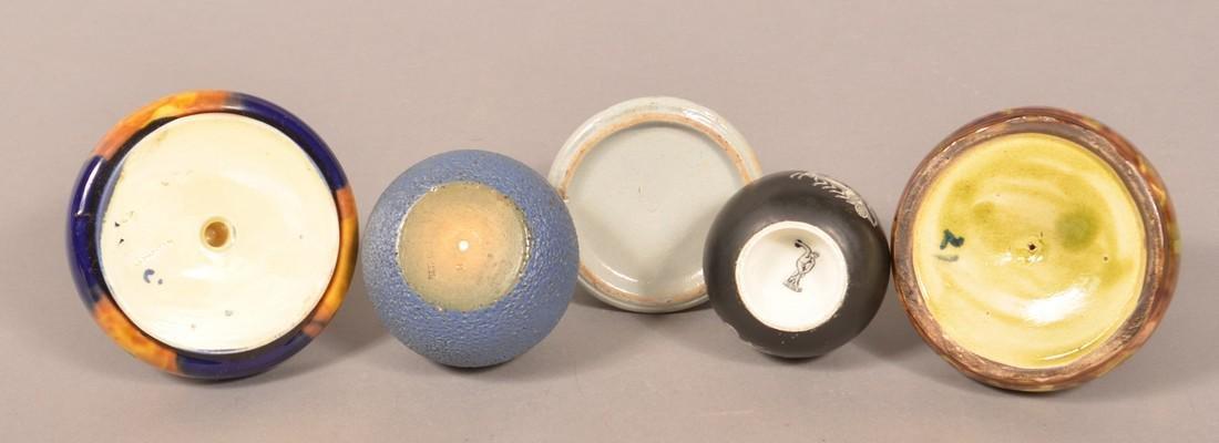 Five Various Pottery/Ceramic Match Safes. - 3