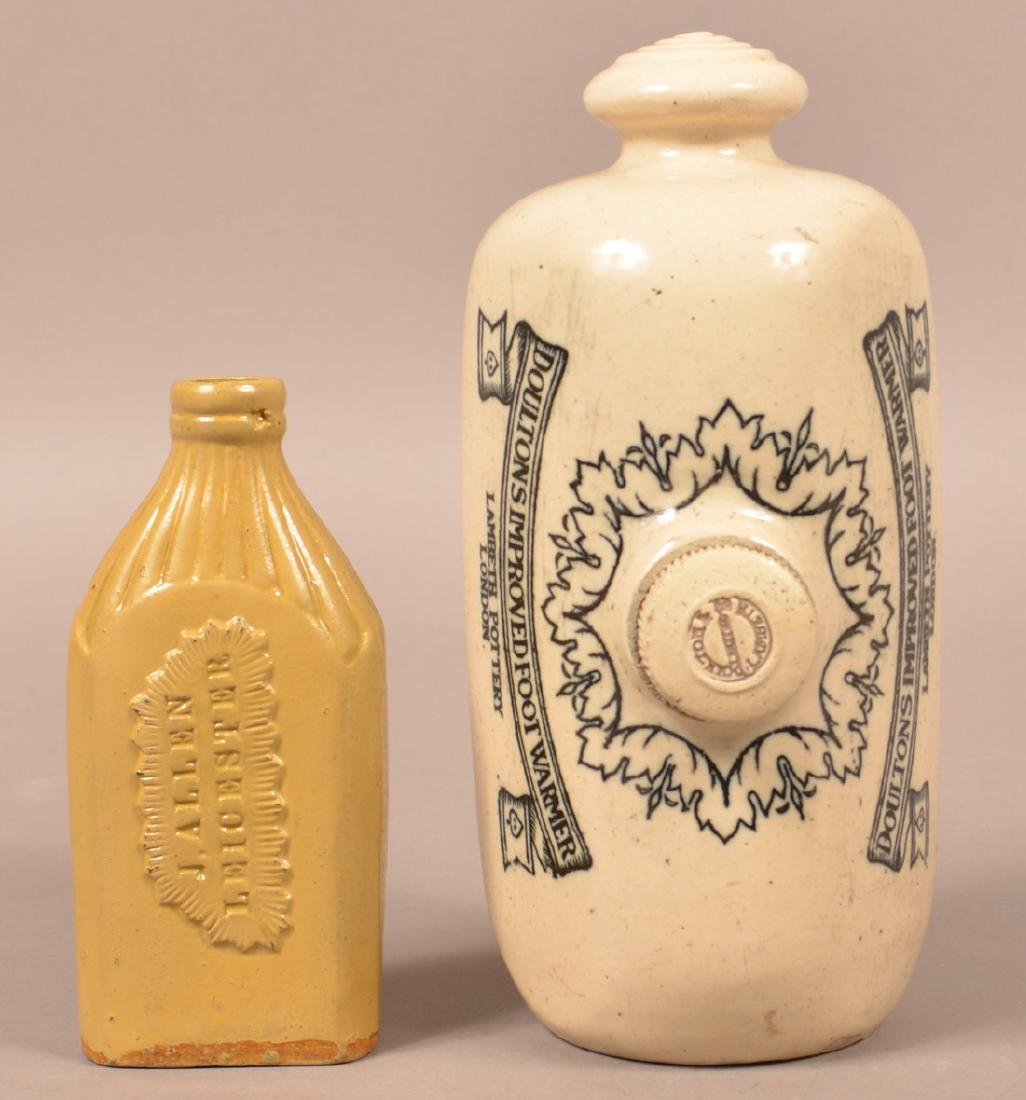 Two Pieces of Glazed English Stoneware.