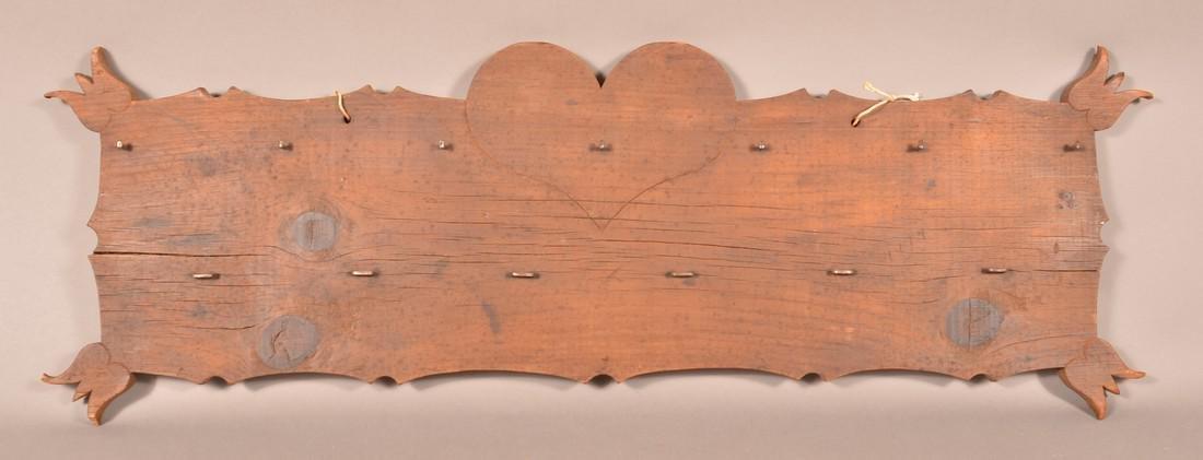 Pennsylvania 19th Century Pine Utensil Rack.
