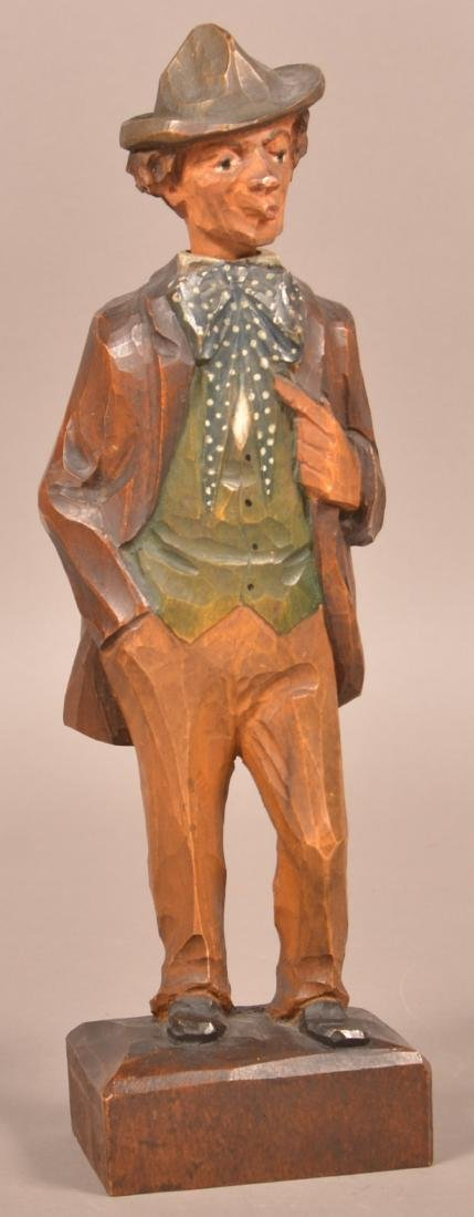 Hand Carved German Whistling Automaton.
