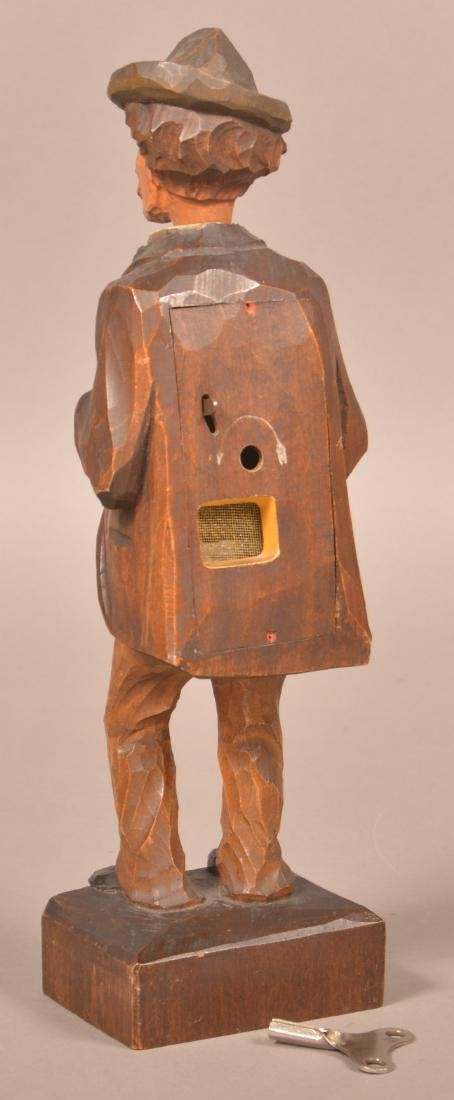 Hand Carved German Whistling Automaton. - 2