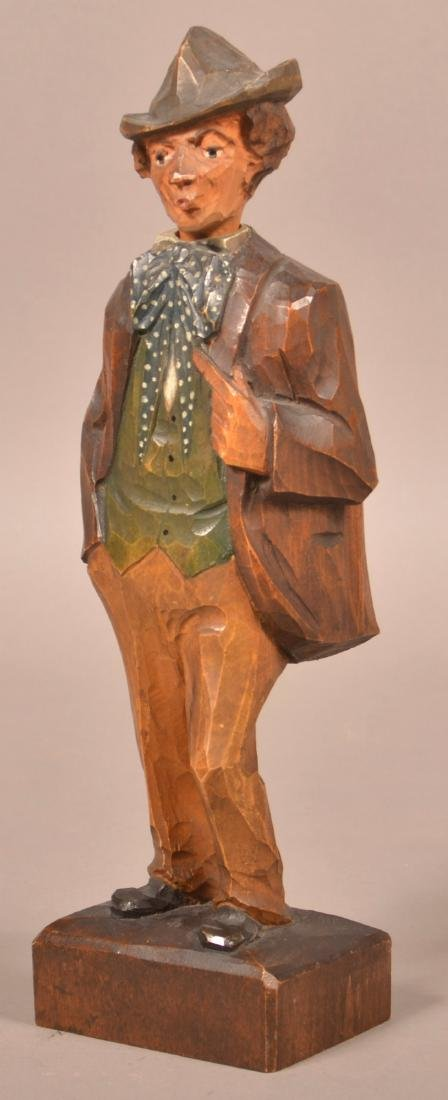 Hand Carved German Whistling Automaton. - 3