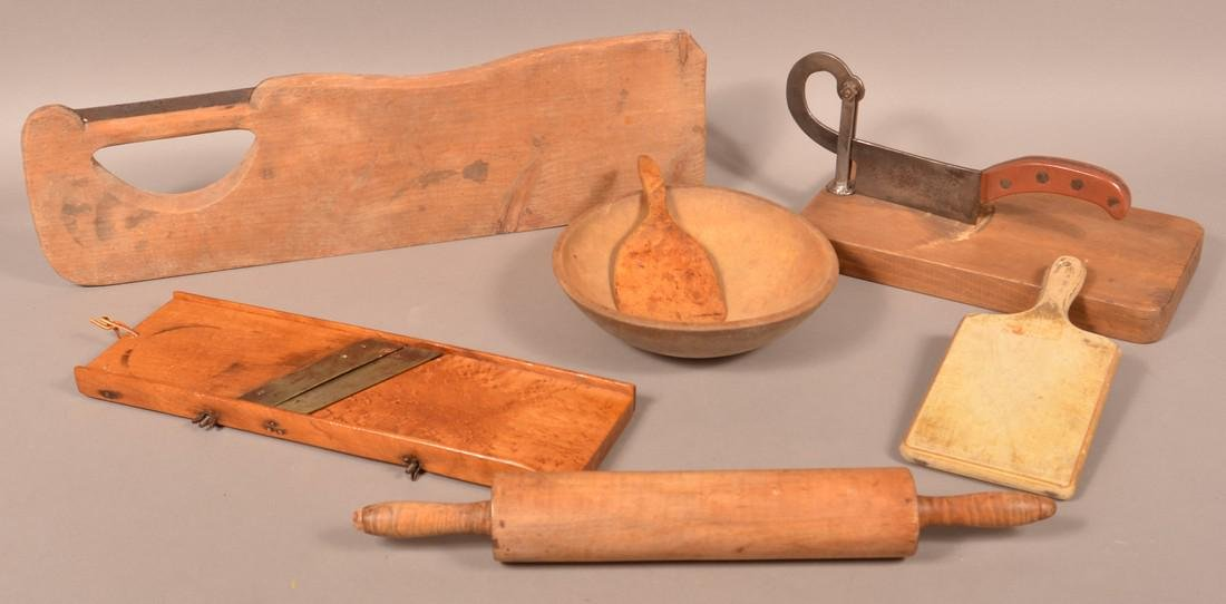 7 Antique/Vintage Wooden Utilitarian Wares.