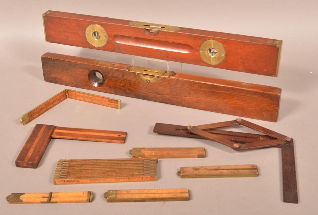 Lot of Ten Antique/Vintage Wooden Tools.