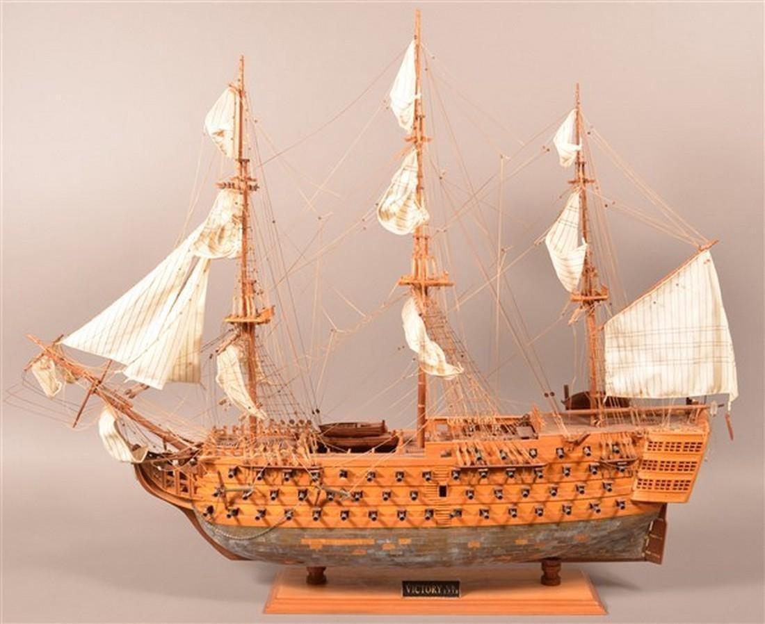 Vintage Wooden Spanish Galleon Ship Model.