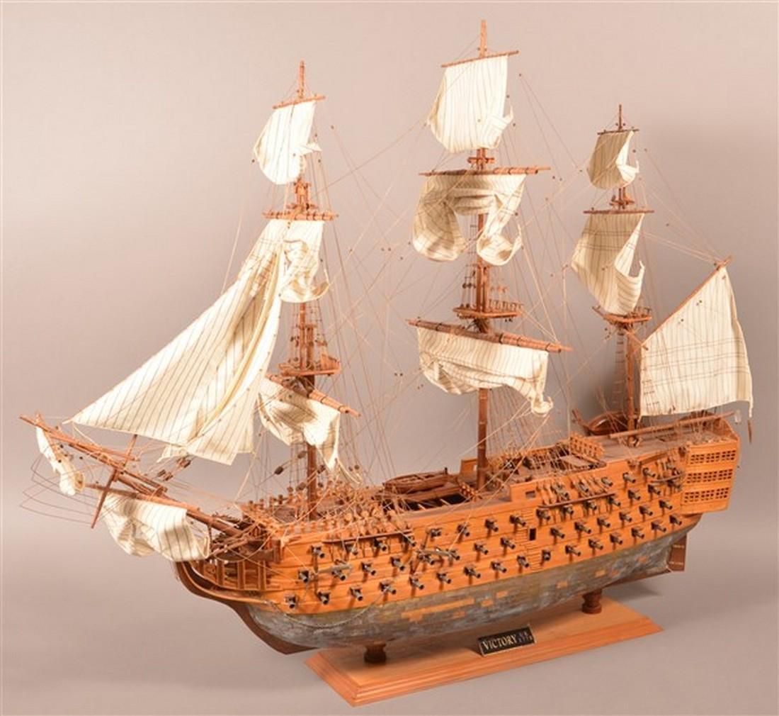 Vintage Wooden Spanish Galleon Ship Model. - 3