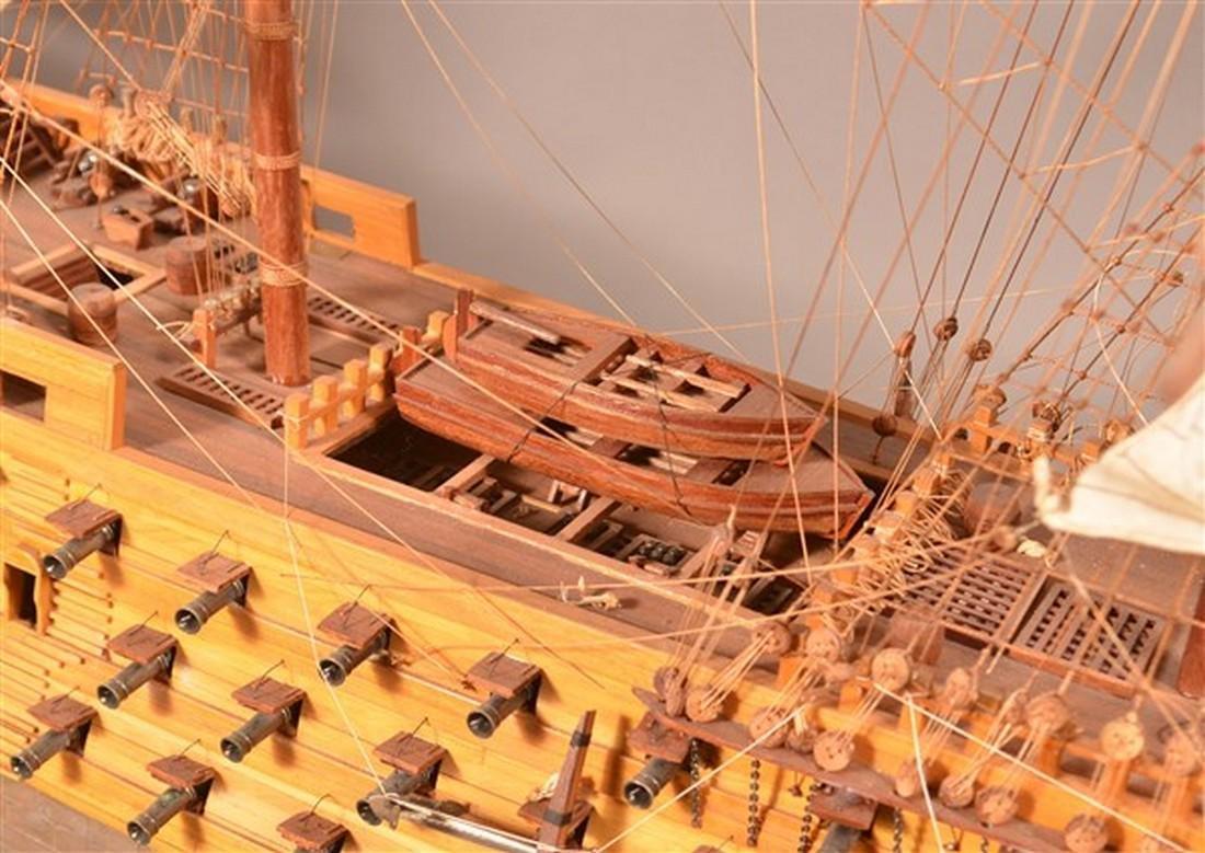 Vintage Wooden Spanish Galleon Ship Model. - 6