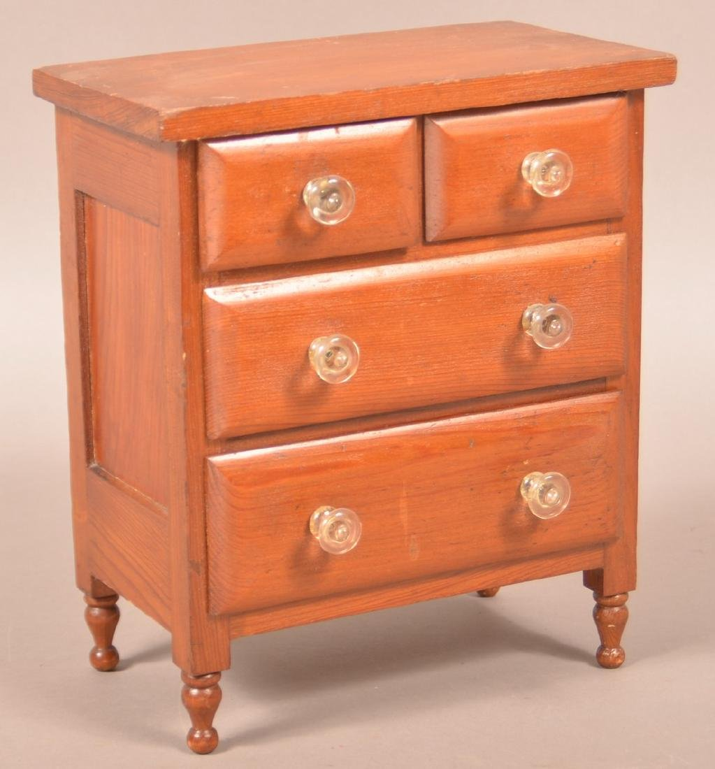 Sheraton Softwood Miniature Chest of Drawers.